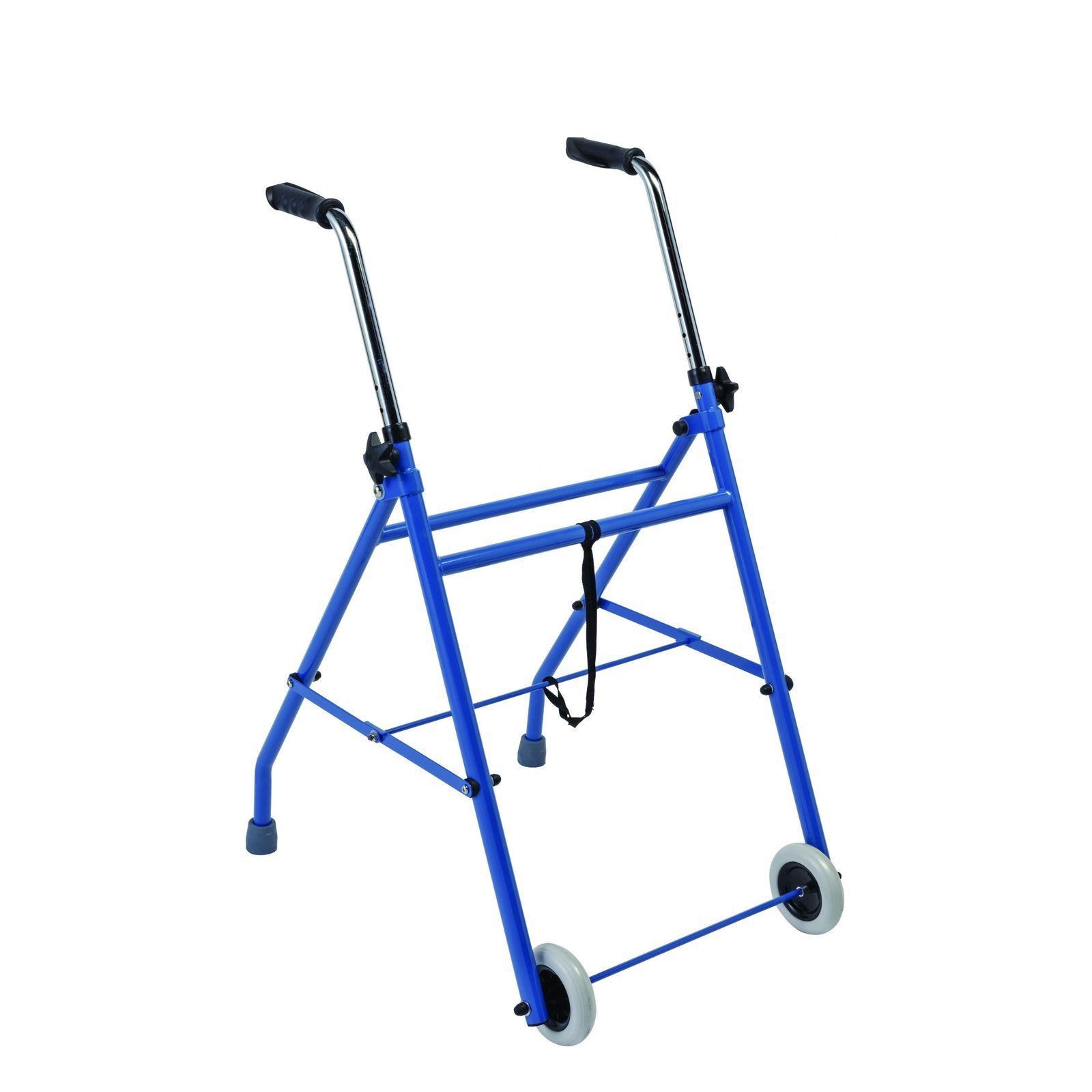 2 kerekű, összecsukható rollátor ülés nélkül, 120kg-ig